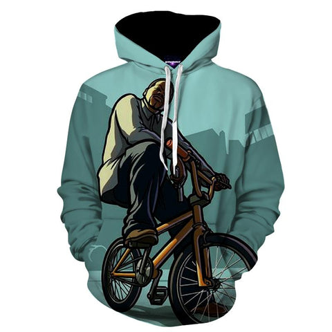 GTA San Andres BMX Gang Style Cool Streetwear Hoodie - Game Geek Shop