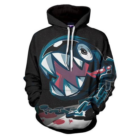 Super Mario Bullet Bill Shark Teeth Dope Artwork Hoodie - Game Geek Shop