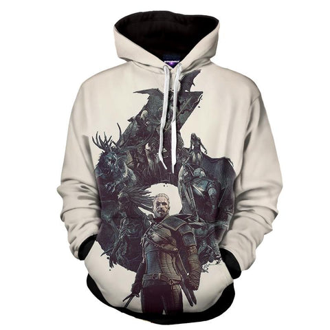 The Witcher 3 Geralt Monster Slayer Gaming Theme Hoodie - Game Geek Shop