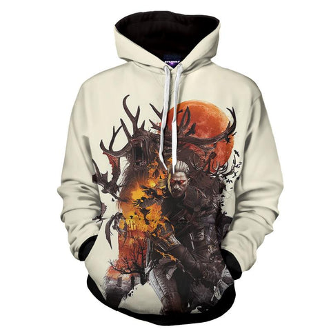 The Witcher 3 Geralt Morvudd Art Design Game Hoodie - Game Geek Shop