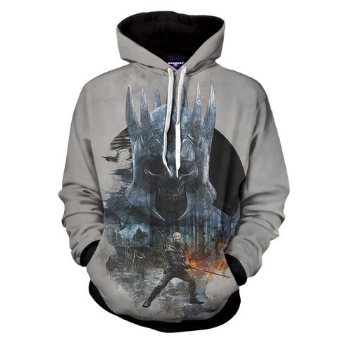 The Witcher 3 Eredin Wild Hunt King Dope Design Hoodie - Game Geek Shop