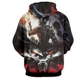 The Witcher Geralt Wolf Symbol Cartoon Sketch Game Hoodie - Game Geek Shop