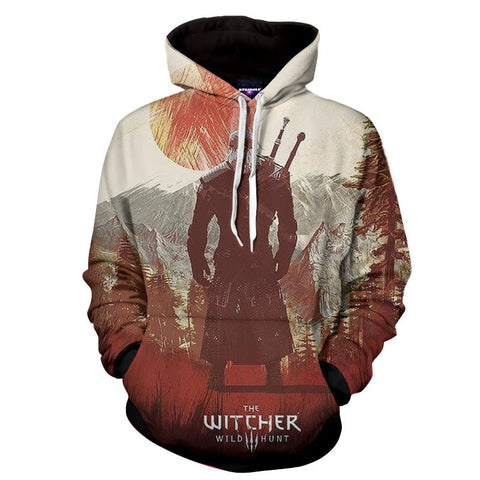 The Witcher 3 Wild Hunt Geralt Game Design Hoodie - Game Geek Shop