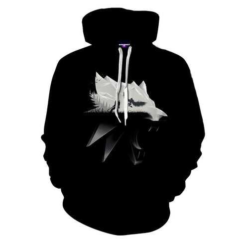 The Witcher Symbol Geralt Fight Griffin Game Theme Hoodie - Game Geek Shop