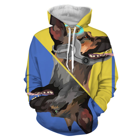 Fallout Dog Meat Card Theme Retro Design Hoodie - Game Geek Shop
