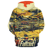 Fallout New Vegas Retro Art Game Theme Hoodie - Game Geek Shop