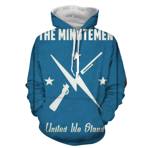 Fallout The Minutemen Poster Retro Design Hoodie - Game Geek Shop