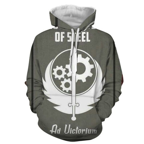 Fallout Brotherhood of Steel Poster Hoodie - Game Geek Shop