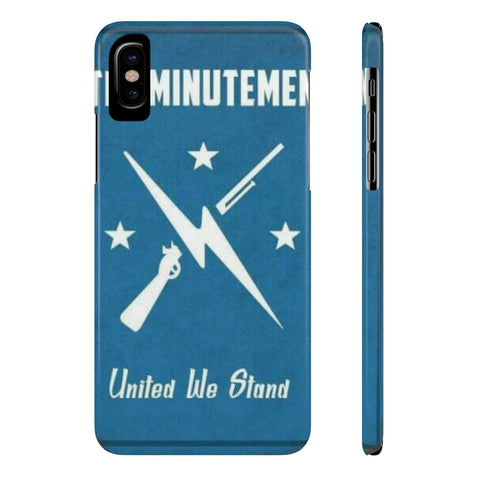 Fallout The Minutemen Poster Retro Phone Case - Game Geek Shop