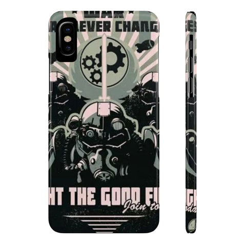 Fallout War Never Changes Power Armor Phone Case - Game Geek Shop