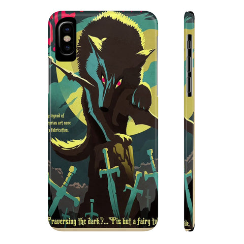Dark Souls Sif Wolf Illustration Art Phone Case - Game Geek Shop