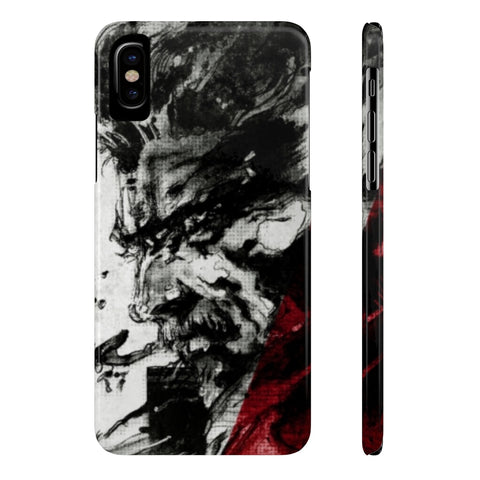 Metal Gear Solid Solid Snake Art Phone Case - Game Geek Shop