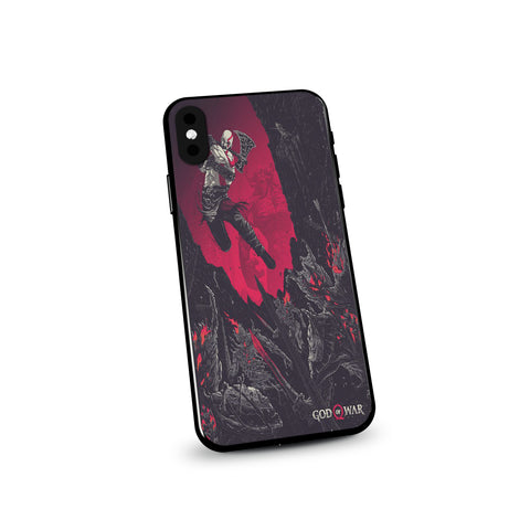God of War Kratos Epic Battle Artwork Phone Case - Game Geek Shop