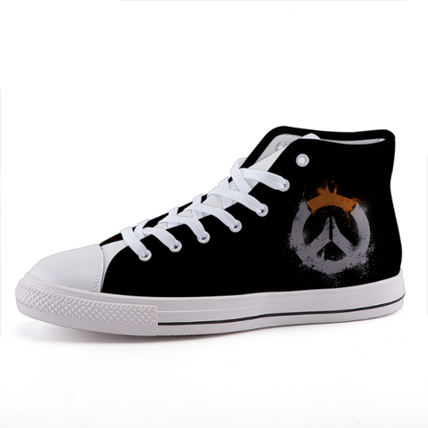 Overwatch Symbol Minimalist Gaming Theme Sneaker Shoes - Game Geek Shop