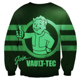 Fallout Vault Tech Screen Game Design Sweater - Game Geek Shop