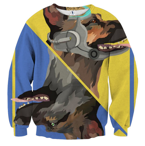 Fallout Dog Meat Card Theme Retro Design Sweater - Game Geek Shop