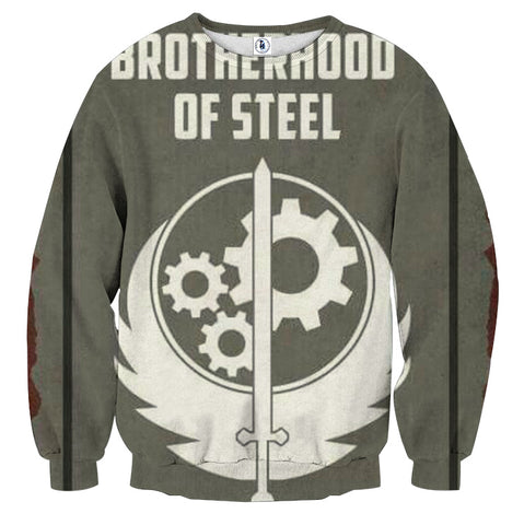Fallout Brotherhood of Steel Poster Sweater - Game Geek Shop