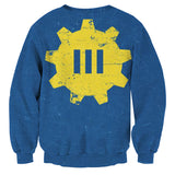 Fallout Vault 111 Symbol Retro Design Sweater - Game Geek Shop