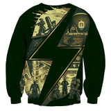Fallout Cartoon Illustration Symbol Game Sweater - Game Geek Shop