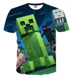 Minecraft Mob Creeper Enderman Ghast 8Bit Style Game T-Shirt - Game Geek Shop