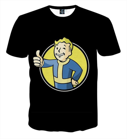 Fallout 4 Vault Boy Thumb Up Icon Dope Design T-Shirt - Game Geek Shop