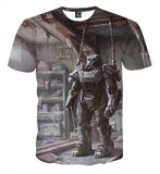 Fallout 4 T-60 Power Armor Frame Concept Art T-Shirt - Game Geek Shop