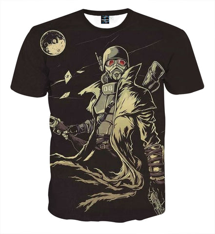 Fallout New Vegas Fan Art Design Cool Game T-Shirt - Game Geek Shop