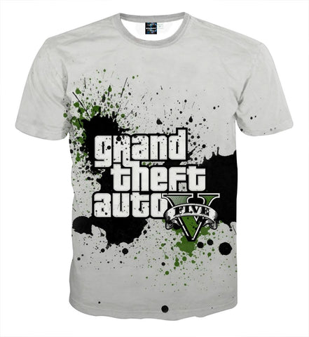 GTA 5 Logo Legendary Game Dope Design Full Print T-Shirt - Game Geek Shop