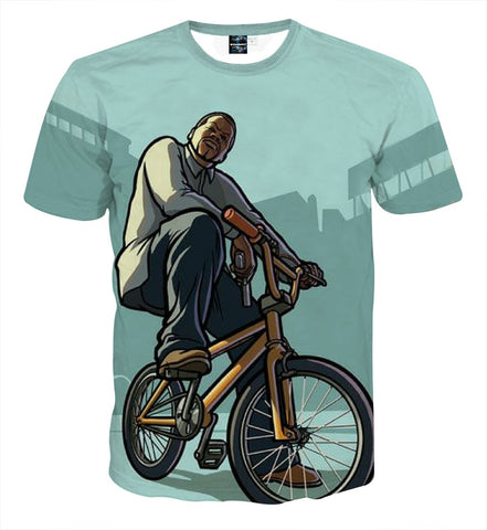 GTA San Andreas BMX Gang Style Cool Streetwear T-Shirt - Game Geek Shop