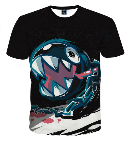 Super Mario Bullet Bill Shark Teeth Dope Artwork T-shirt - Game Geek Shop