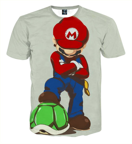 Super Mario Defeat Koopa Troopas Cool Art Game T-Shirt - Game Geek Shop