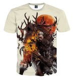 The Witcher 3 Geralt Morvudd Art Design Game T-Shirt - Game Geek Shop