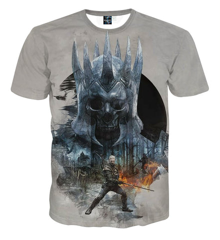 The Witcher 3 Eredin Wild Hunt King Dope Design T-Shirt - Game Geek Shop