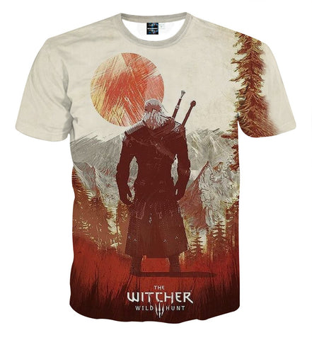 The Witcher 3 Wild Hunt Geralt Game Design T-Shirt - Game Geek Shop