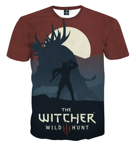 The Witcher 3 Wild Hunt Minimalist Style Game T-Shirt - Game Geek Shop