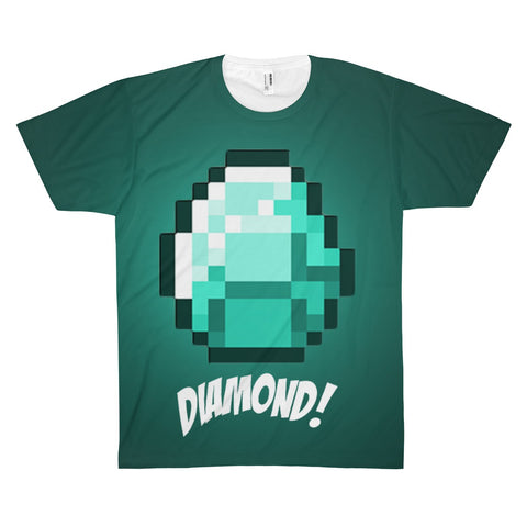 Minecraft Diamond Ore Game Theme T-Shirt - Game Geek Shop