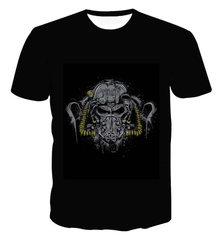 Fallout Power Armor T60 Sketch Artwork T-shirt - Game Geek Shop