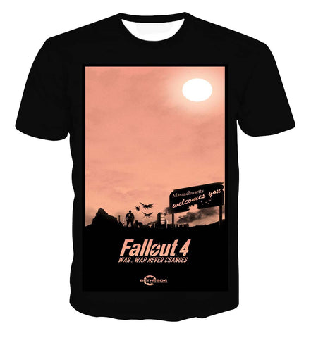 Fallout 4 War Never Changes Vintage T-shirt - Game Geek Shop