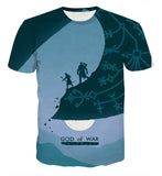 God of War Kratos Creative Artwork T-shirt - Game Geek Shop