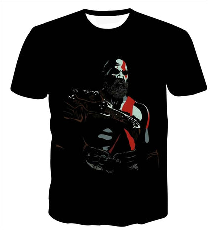 God of War Kratos Portrait Vibrant T-shirt - Game Geek Shop