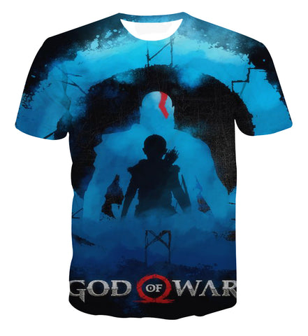 God of War 4 Boy Portrait Design T-shirt - Game Geek Shop