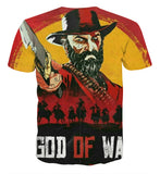 God of War Crossover Red Dead Redemption T-shirt - Game Geek Shop