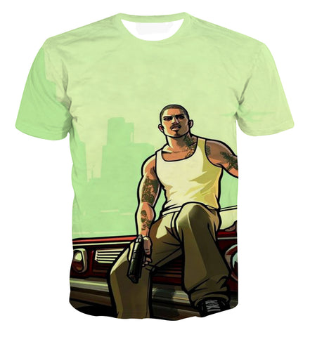 GTA San Andreas Gang Streetwear T-shirt - Game Geek Shop