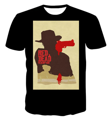 Red Dead Redemption 2 Poster Style T-shirt - Game Geek Shop