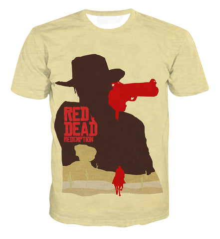 Red Dead Redemption 2 Poster Artwork T-shirt - Game Geek Shop