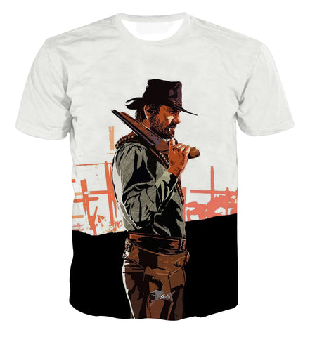 Red Dead Redemption 2 Arthur Art T-shirt - Game Geek Shop