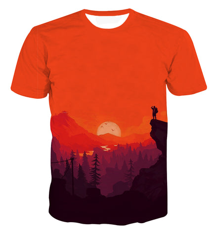 Red Dead Redemption Sunset Scene T-shirt - Game Geek Shop
