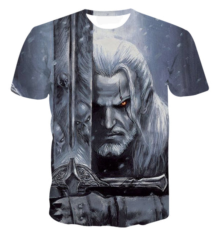 The Witcher Geralt Evil Sword Art T-shirt - Game Geek Shop
