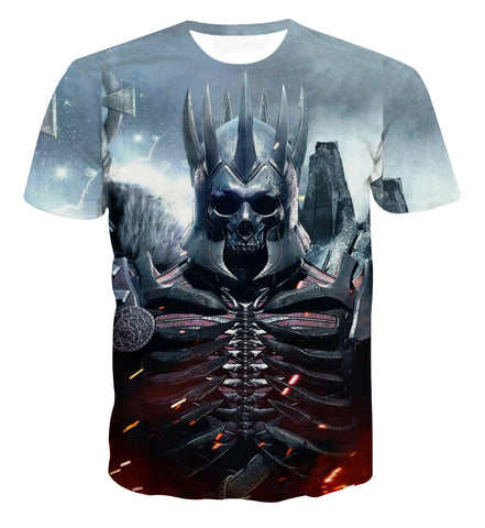 The Witcher Demon Skull King Vibrant T-shirt - Game Geek Shop