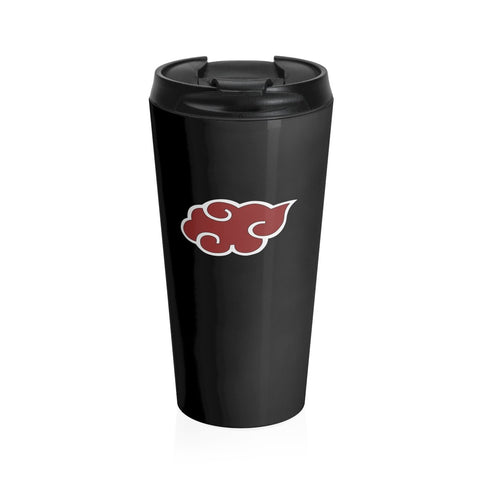 Naruto Akatsuki Symbol Simple Stainless Steel Travel Mug - Game Geek Shop